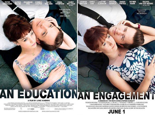 Воспитание чувств, свадебное приглашение, Education, Engagement, постер