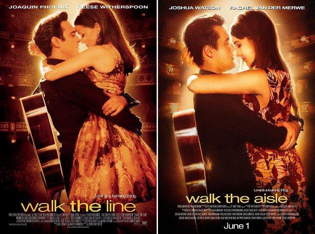 Переступить черту, walk the line, постер, свадебные приглашения
