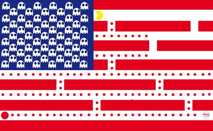 Стефан Масса-Бидаль, Rétrofuturs, флаг США, pacman