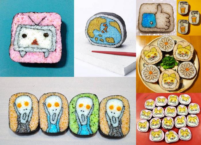 Новый японский съедобный тренд: суши как картины