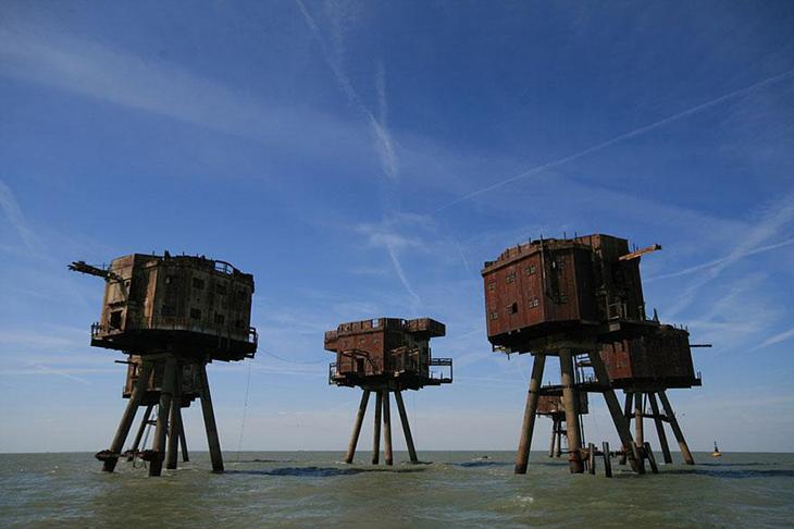 заброшенное место, Англия, морской форт