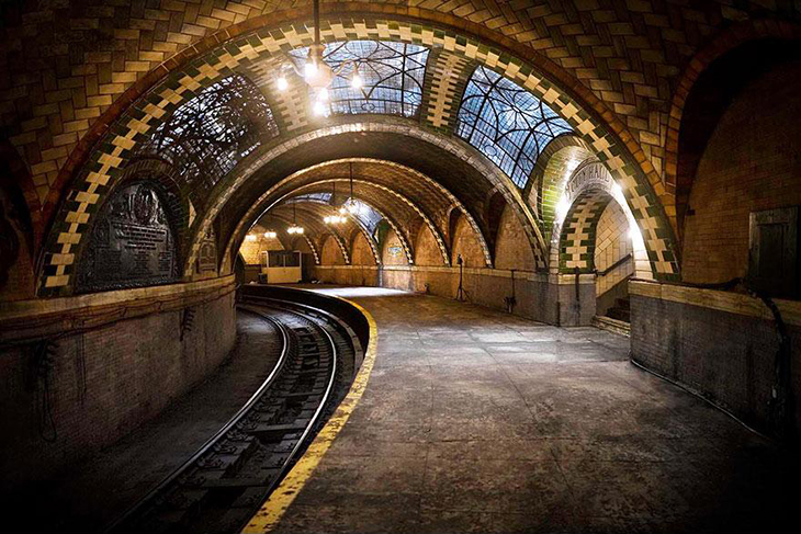 заброшенное место, метро, Нью-Йорк