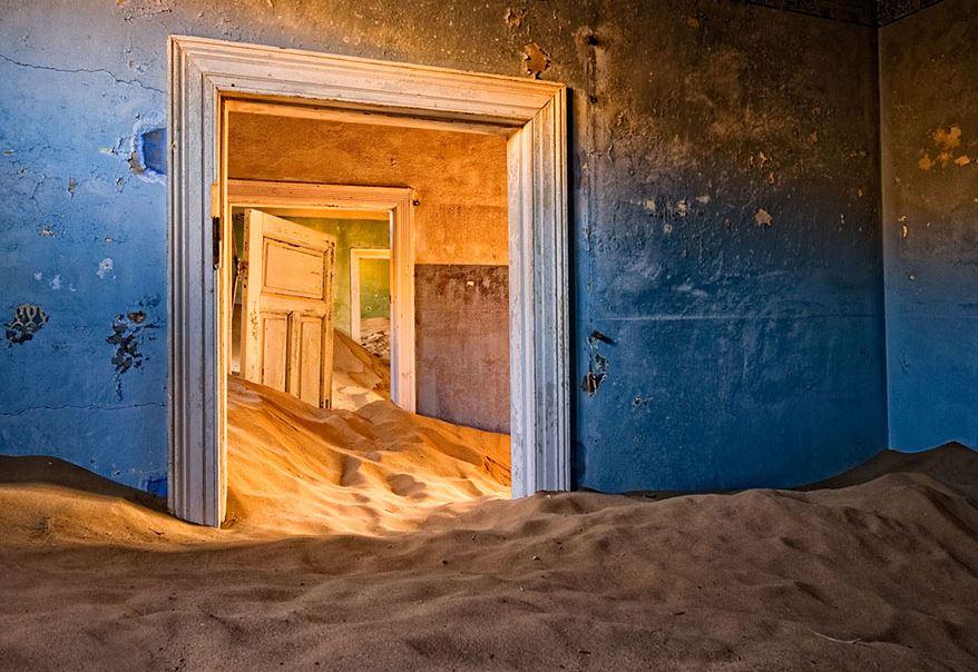 заброшенное место, песок, Намибия