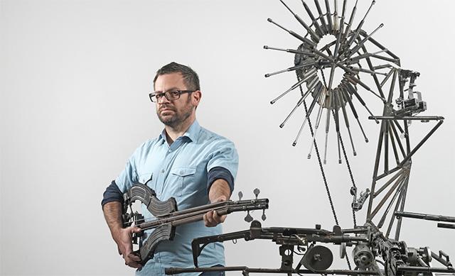 disarm, музыкальный инструмент, пистолет, гитара