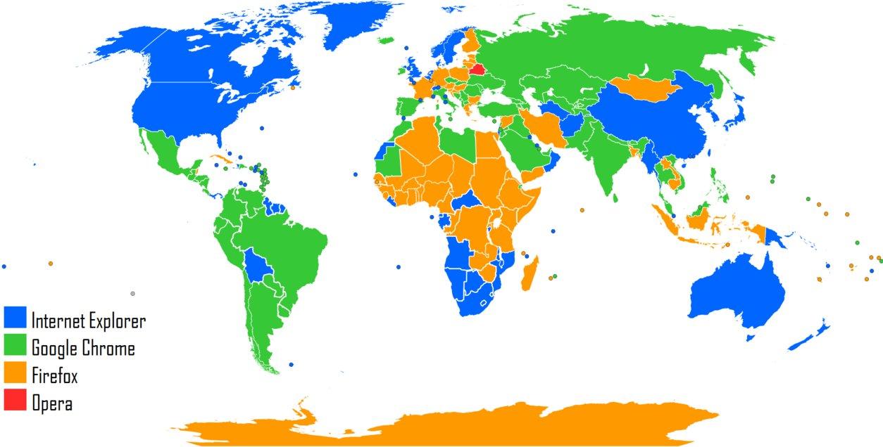 карта мира, интернет-браузер, google chrome, firefox, internet explorer