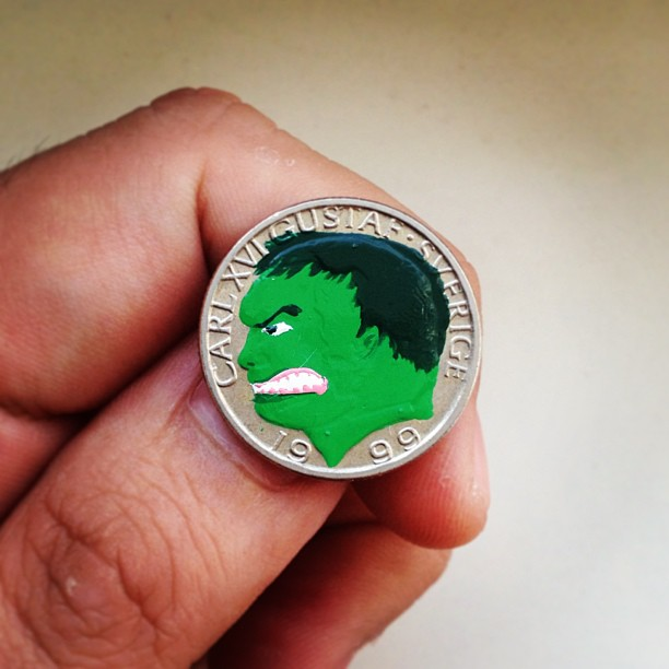 Андре Леви, Tales You Loses, монеты, рисунки, hulk, халк