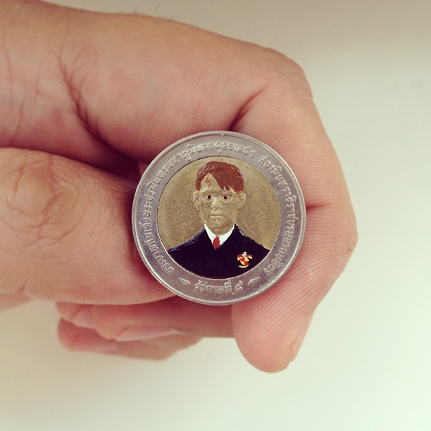 Андре Леви, Tales You Loses, монеты, рисунки, Гарри Поттер
