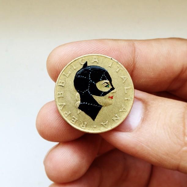 Андре Леви, Tales You Loses, монеты, рисунки, женщина кошка