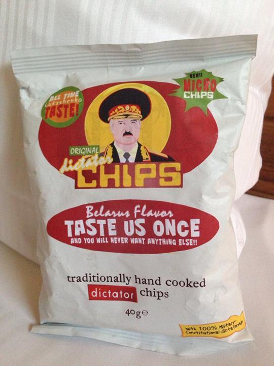 В Голландии выпускают чипсы, на упаковке которых изображен Александр Лукашенко