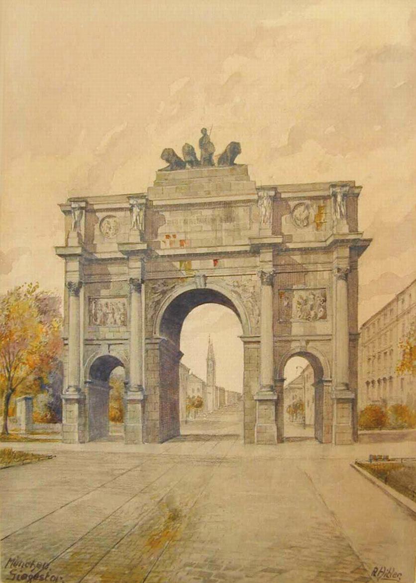 Гитлер, художник, политик, арка, картина