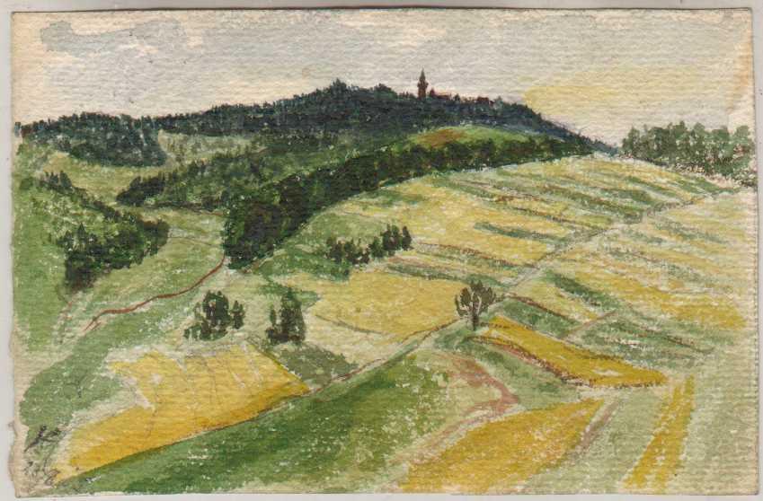Гитлер, художник, политик, пейзаж, картина
