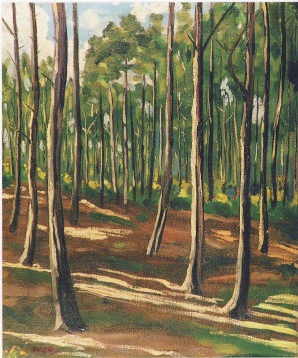 черчилль, художник, картины, деревья