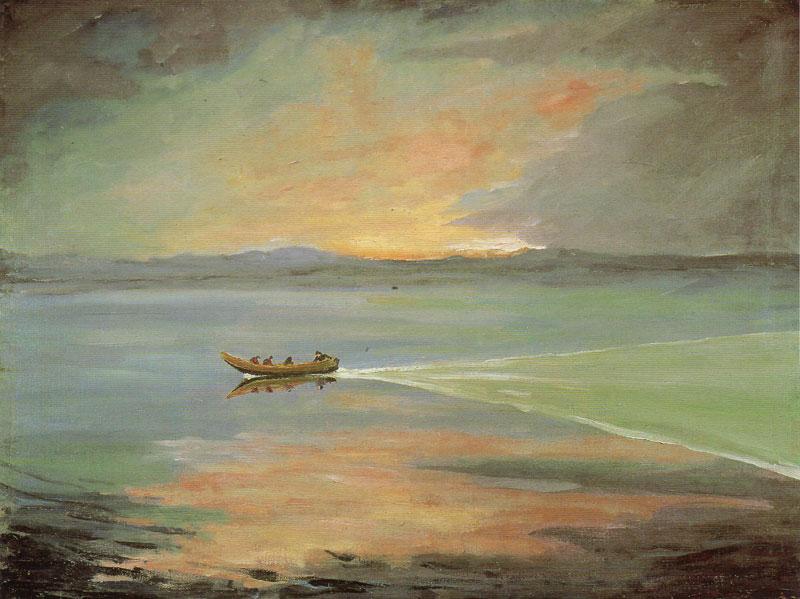 черчилль, художник, картины, море, пейзаж