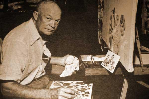 эйзенхауэр, президент америки, художник, картины
