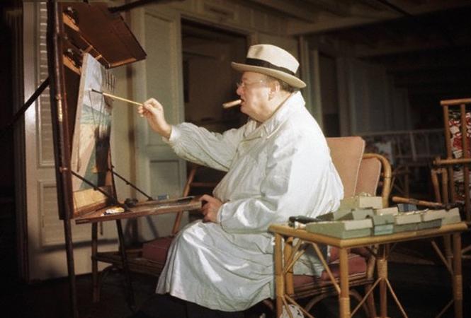 Политики рисуют: Гитлер, Путин и Черчилль у холста