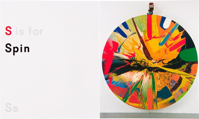 Damien Hirst, ABC, азбука, Дэмиен Хёрст, orange, s, с, spin, вращение