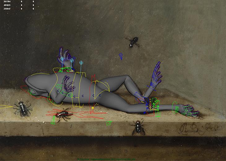 «Мертвая лягушка и мухи» — процесс перевода в 3D-графику