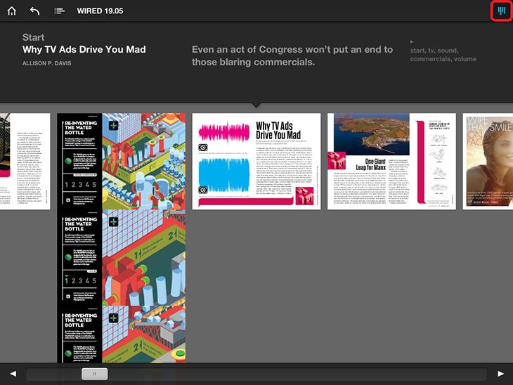 Журнал Wired  на iPad