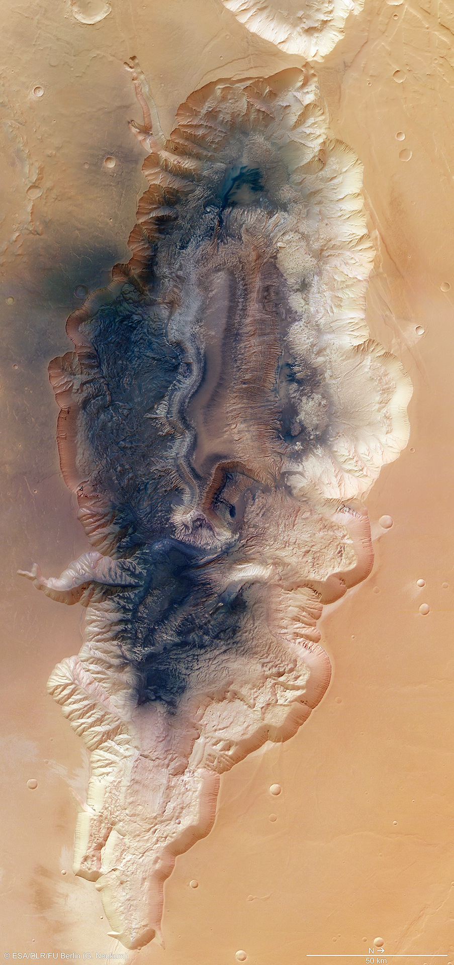 Observing the Earth, ESA, фото земли, Hebes Chasma
