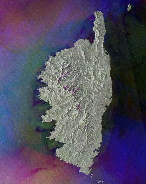 Observing the Earth, ESA, фото земли, Корсика