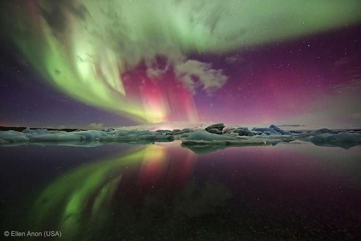 лучшее фото дикой природы, северное сияние