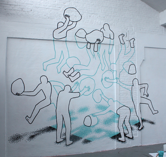 Даан Ботлек, граффити