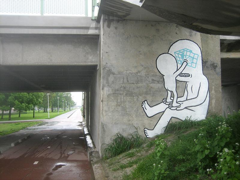 rotterdam, Даан Ботлек, граффити
