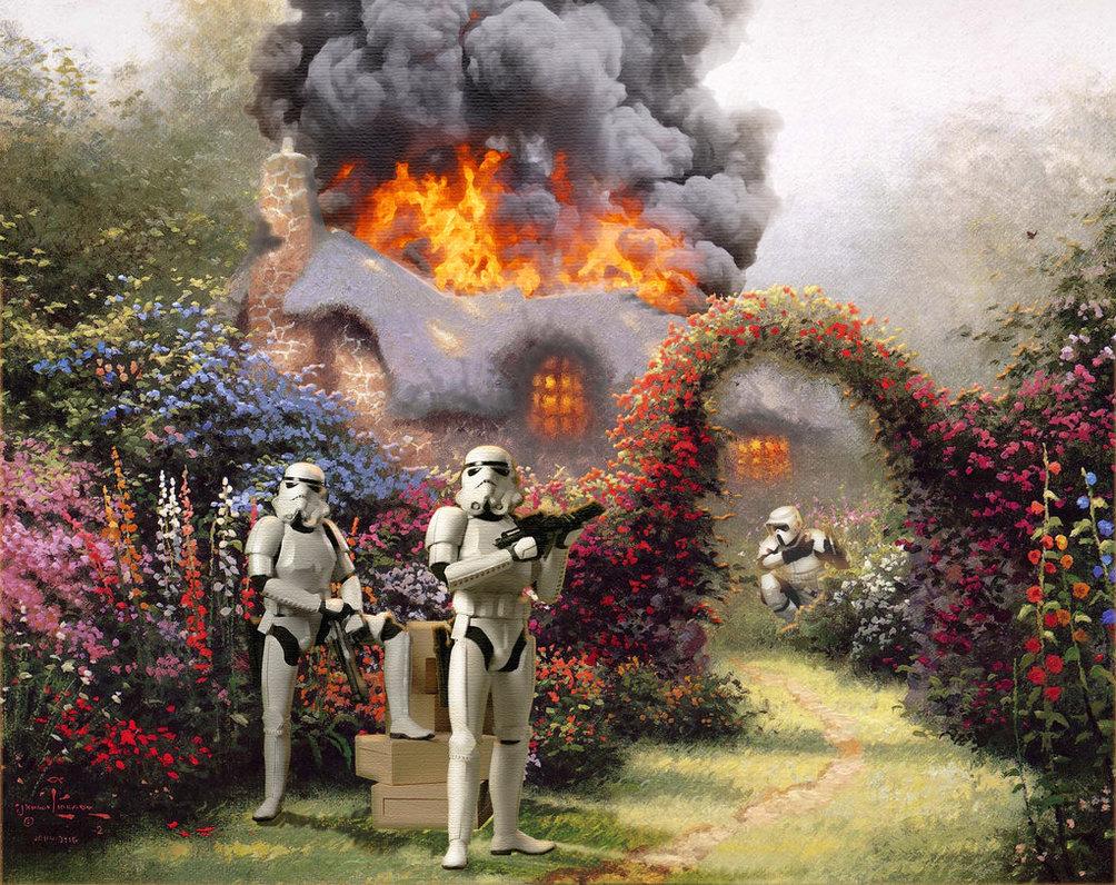 wars on kinkade, звездные войны, кинкейд, сказка, штурмовики