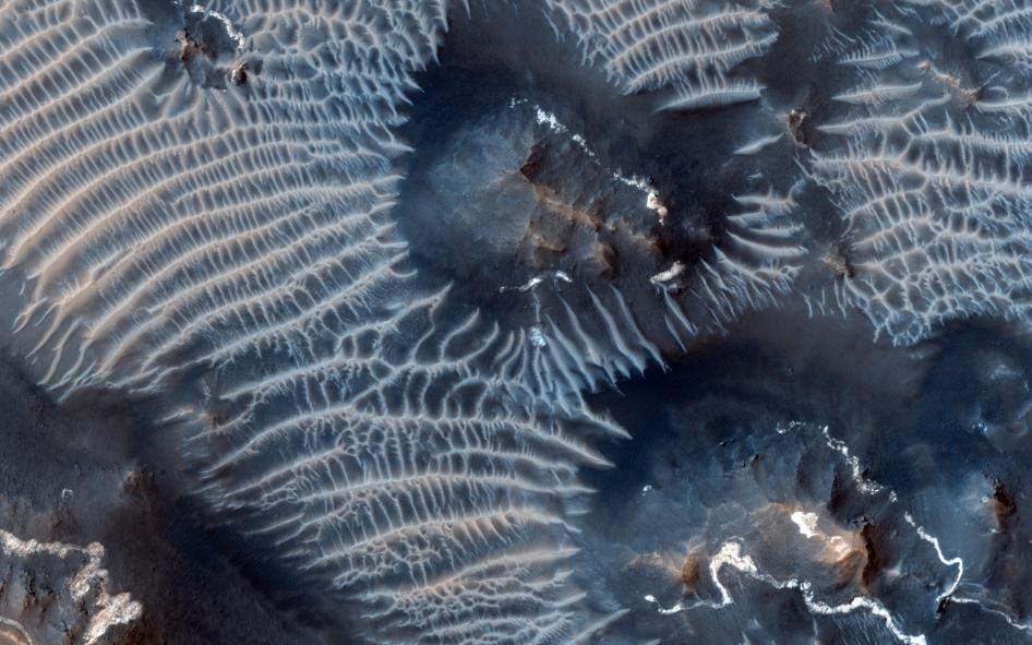 Осадки на Марсе
