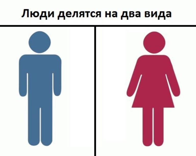 люди делятся на 2 типа