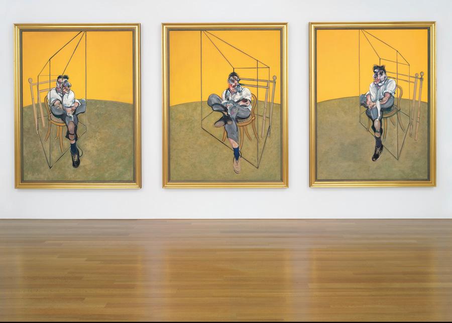 Триптих Фрэнсиса Бэкона «Три наброска к портрету Люсьена Фрейда»