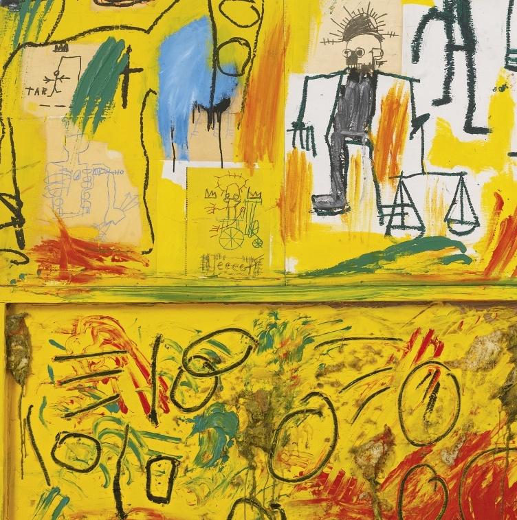 Жан-Мишель Баския, Без названия (Желтая смола и перья), 1982