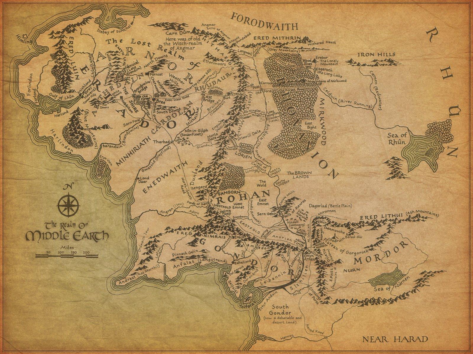 Google создала интерактивную карту Средиземья