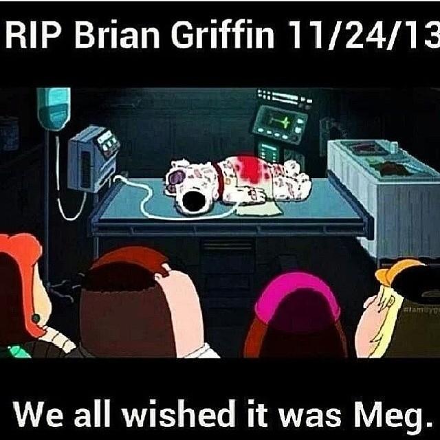 Покойся с миром, Брайан Гриффин. Мы все хотели, чтобы это была Мег.