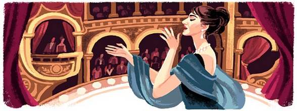 Мария Каллас, doodle