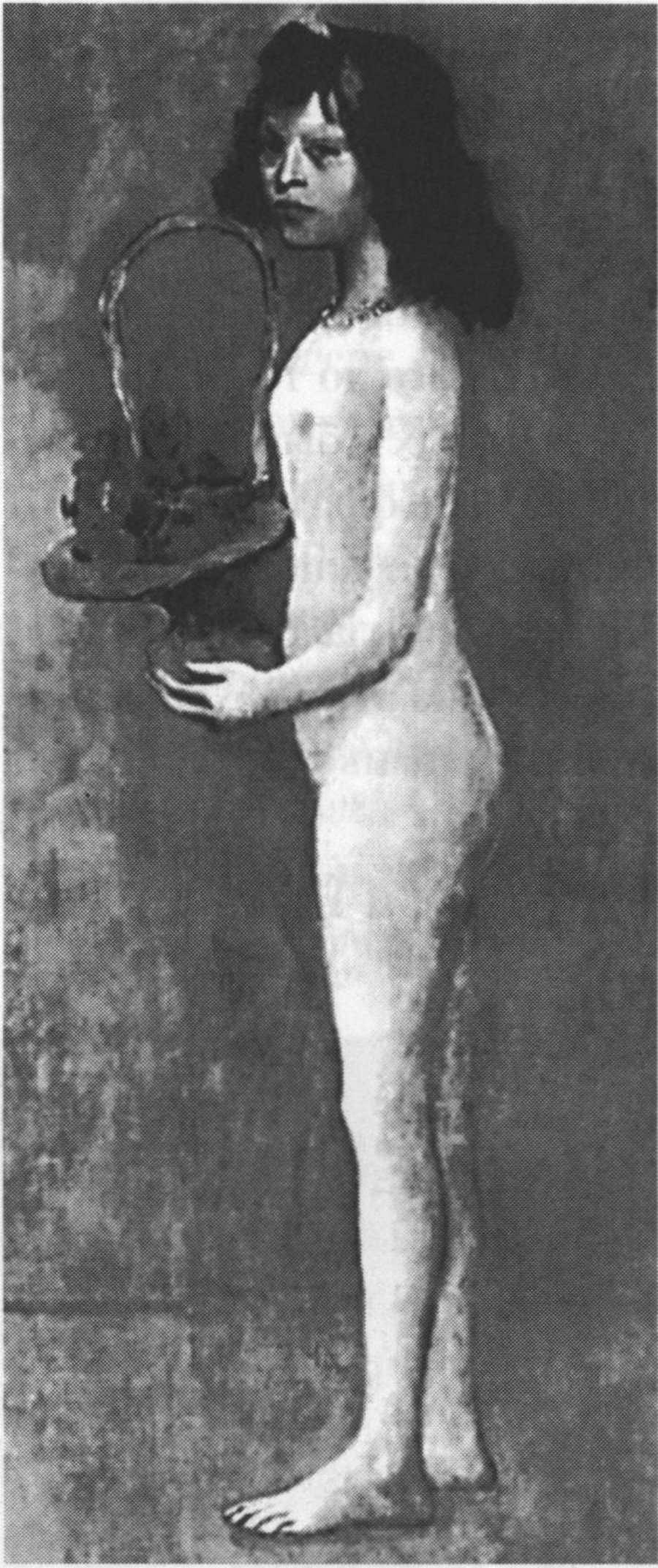Девочка с цветочной корзинкой Пабло Пикассо