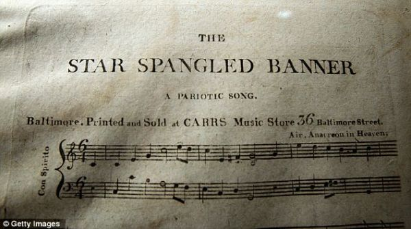 The Star Spangled Banner, ноты