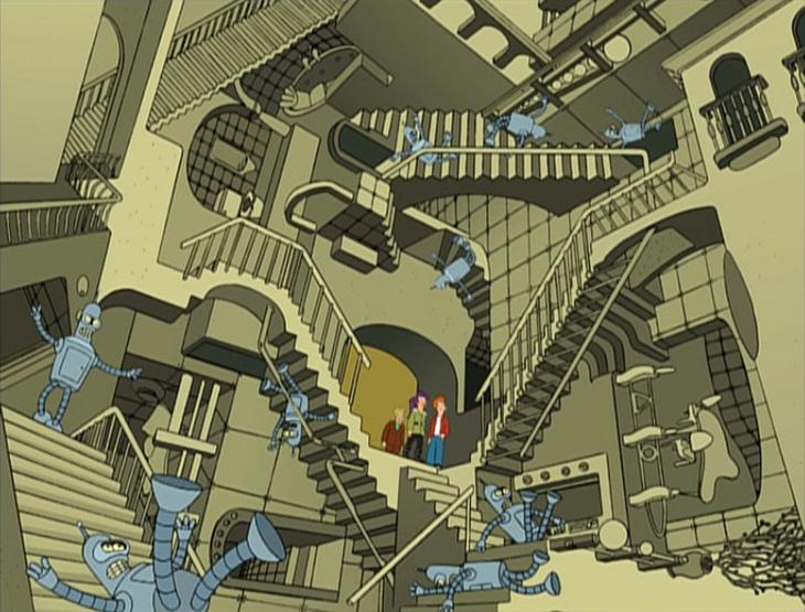 Escher Futurama
