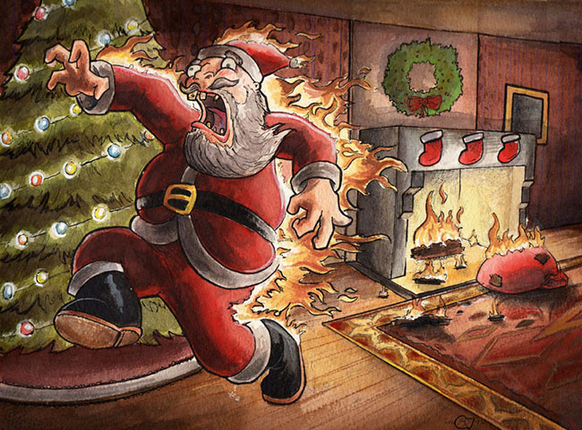 Flaming Santa