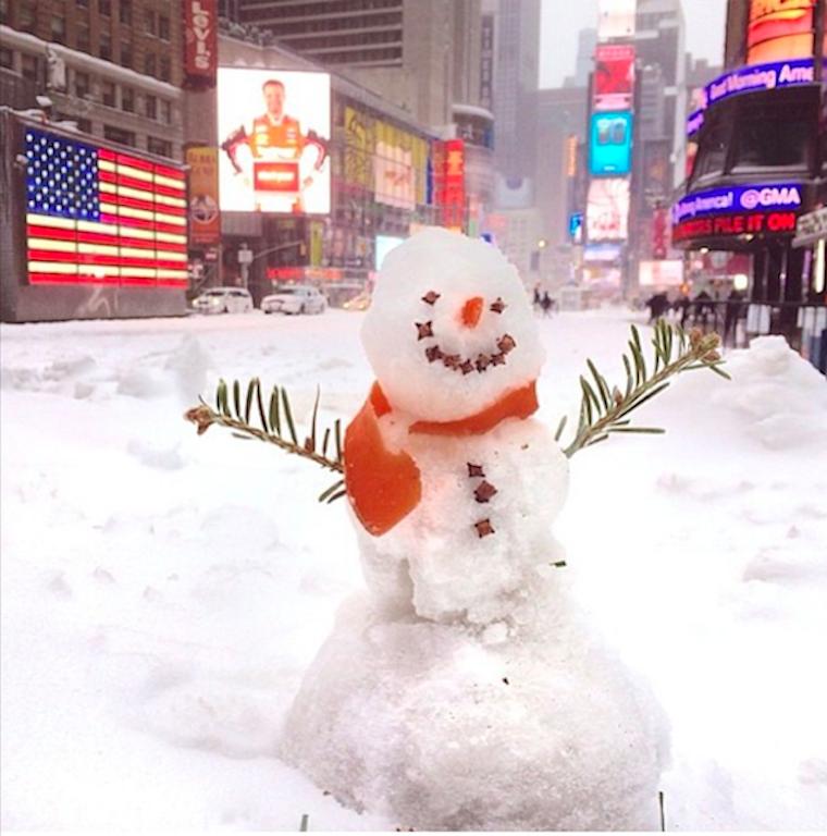 Снегопад в Instagram