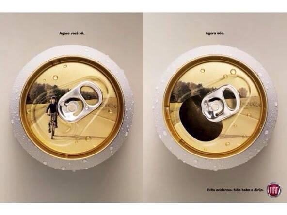 Реклама новой антиалкогольной кампании Fiat