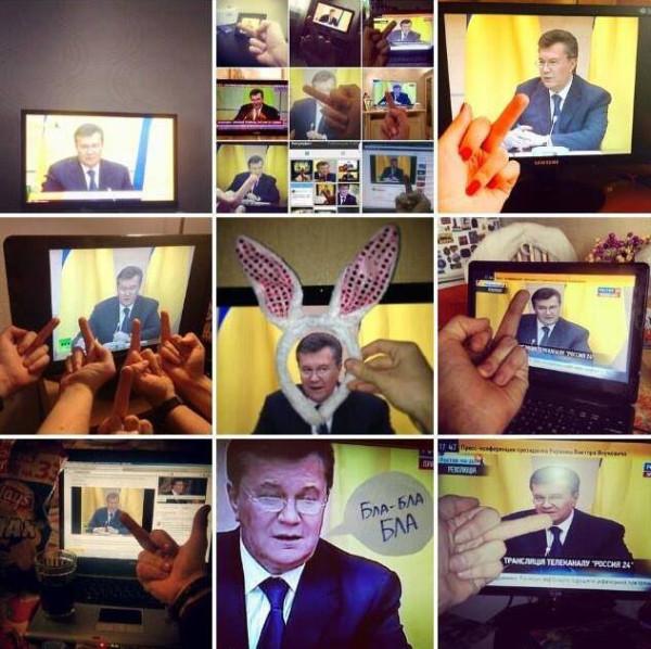 Народ поддержал Януковича