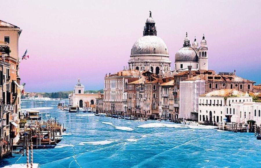 В Венецию пришла зима