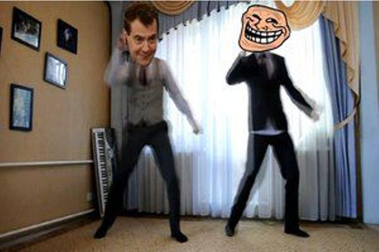 танец, Медведев, фотожаба