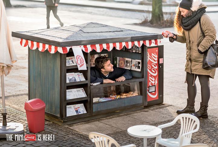 Мини-киоски для мини Coca-Cola