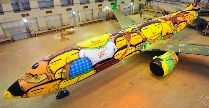 Самый веселый самолет для сборной Бразилии