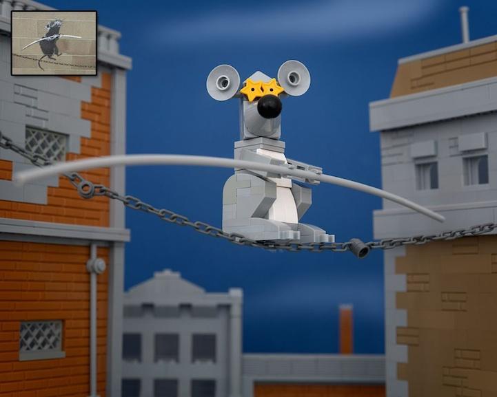 Из Lego сделали Banksy