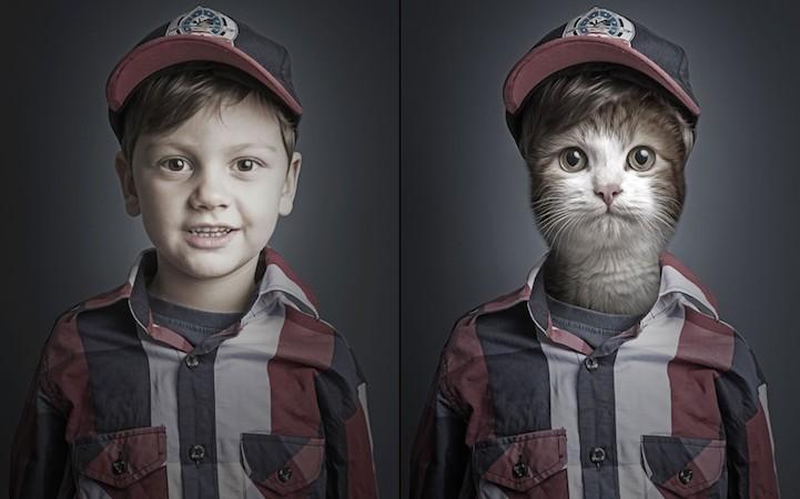 Котики и их хозяева: найдите 10 отличий