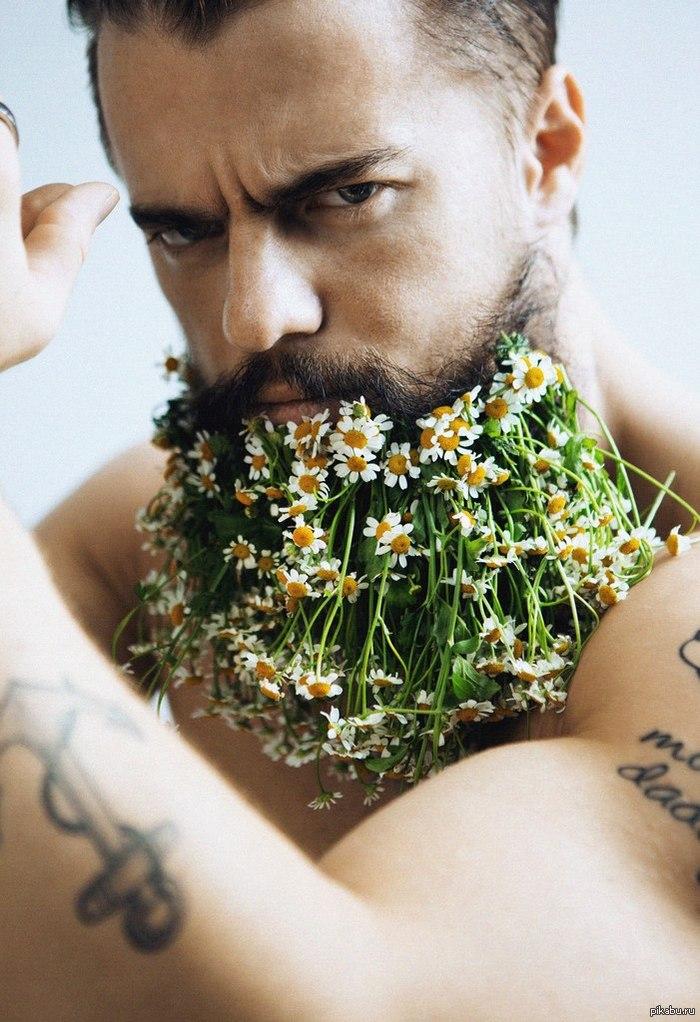 Борода в цветах