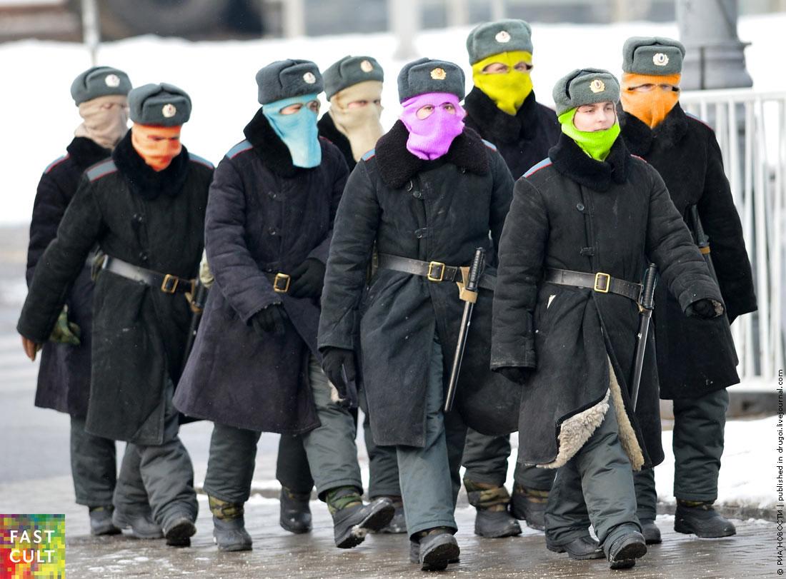 полиция, балаклава, pussy riot